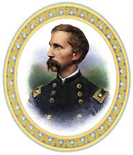 General JOSHUA LAWRENCE CHAMBERLAIN cartouche engraving Colored print w/Mat