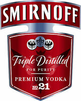 NEW Smirnoff Vodka Bottle Red Label Airbrush Stencil Template Step by Step Paint