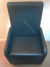 CHAIR RECLINER FAUX LEATHER/ MAGIC FOLDING TO  CUBE SPACE SAVER NEW BOXED