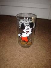 """VINTAGE MICKEY MOUSE CLUB (PROMO) SOUVENIR DRINKING GLASS 5 1/4"""" TALL"""