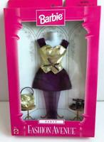 1997 Barbie Fashion Avenue Party Purple/Gold Velvet Dress Set #18155 New Mattel