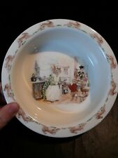 "🌟 Vintage 1988 Royal Doulton Bunnykins Bowl Child Cereal / Soup Dish 6.25"" (a8)"