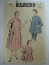 Vintage Advance 6486 Maternity Duster Smock Dress Top Sewing Pattern Women Sz 18