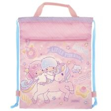 Sanrio Little Twin Stars 33W x 40.5H x 9Dcm Drawstring Backpack, Pink (9-7131-1)