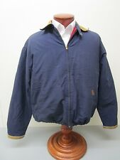 Vintage Polo Ralph Lauren Contrast Suede Collar Insulated Bomber Jacket Size M