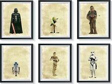 6 Inspirational STAR WARS Art Print Set Lot Nursery, Bedroom, Playroom ++