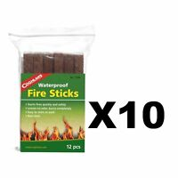 Coghlan's Waterproof Fire Sticks 12-Count Tinder Camping Fire Starters (10-Pack)
