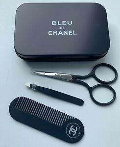 CHANEL scissors tweezers comb bleu de chanel set of 3 pcs in case NEW  VIP GIFT
