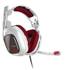 Astro A40 TR + MixAmp M80 White/Red Over the Ear Headset for Xbox One