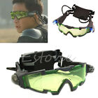 Eyeshield Adjustable Elastic Band LED Night Vision Green Lens Goggles Glasses