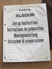 Original factory Set-up Manual Instructions Honda XL600R  1984