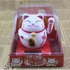 Solar Powered Maneki Neko Welcoming Lucky Beckoning Fortune Cat H