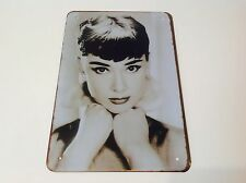 Audrey Hepburn SEXY LADY WALL  art movie star Hollywood Sign Tin Plaque PICTURE