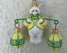Patricia Breen - Bunny Balance, Daisies. Fully Glittered. Bejeweled. Nm Exclus.