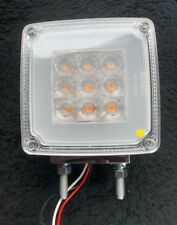 "4"" Square 2 Post Indicator/Park Light Clear/Amber to suit WS,Kenworth & Mack"