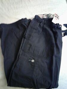 Koi Ladies Cargo Scrub Pants Size Med Orange