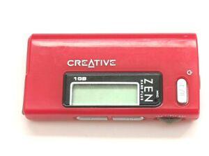 Creative ZEN Nano Plus 1GB FM Radio Audio Digital MP3 Media Player Red