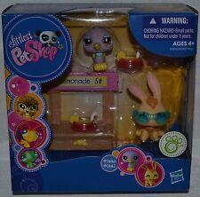 Littlest Pet Shop~Lemonade Stand~1440~1441~Bunny~Purple Bird~Sunglasses~NEW