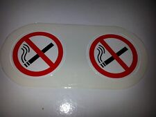 DOUBLE TAX DISC HOLDER (PERMIT) WITH NO SMOKING SIGN ON both sides!