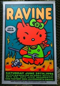 Kozik '96 RAVINE screen print; infamous, OOP & extremely rare, signed #248 /600