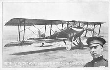 AVIATOR RUDOLPH SCHROEDER & ALTITUDE RECORD PLANE AT 1924 DAYTON OH AIR RACES