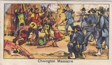 FIGURINA AMERICAN CHEWING CORP SERIE PELLIROSSE N°11 CHIVINGTON MASSACRE 19-58