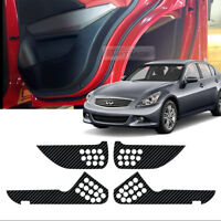 Carbon Door Decal Sticker Cover Kick Protector For INFINITI 2009-2012 G37 Sedan