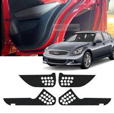 Carbon Door Decal Sticker Cover Kick Protector For INFINITI 2009-2012 G37 Sedan