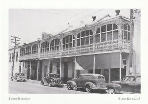 """*Louisiana Postcard-""""Tessier Buildings"""" -On Lafayette Street/ *Baton Rouge LA."""