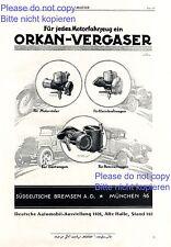 Carburettor Orkan Munich Germany XL german ad 1926 hurricane xc