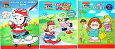 FISHER PRICE ~LITTLE PEOPLE~ COLORING & ACTIVITY BOOK SET