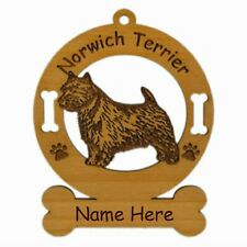 Norwich Terrier Standing Dog Ornament Personalized With Your Dogs Name 3618