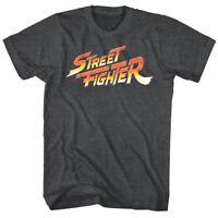 Street Fighter Classic Logo Vintage Men's T Shirt Combat Gamer Nintendo Capcom