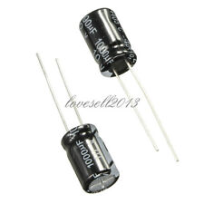 50Pcs 1000uF 10V 105°C Radial Electrolytic Capacitor 8x12mm NEW