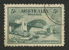 Australia 1932 Sydney Harbour Bridge 5 sh SG # 143 ,Sc #132 used
