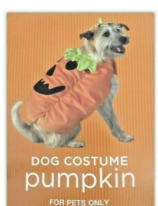 "PUMPKIN Jack-O-Lantern DOG Costume~ Size Small 7-12 Pounds/10-13""~ Terrier~NEW"