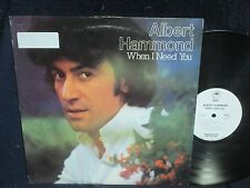 "Albert Hammond ""When I Need You"" LP WHITE LABEL PROMO"