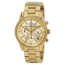 Michael Kors Ritz Gold Tone Dial Ladies Chronograph Watch MK6356