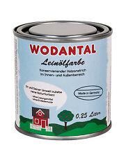 51,60€/L Wodantal reine Leinölfarbe schwedenrot 0,25 Liter rot