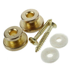 2pcs Golden Strap Button w/ Mounting Screw for Guitar Mandolin M5I3