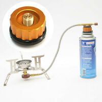 Outdoor Camping BBQ Stove Burner Adapter Picnic Gas Jet Cooking Hiking Portable