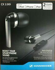New Sealed Black Sennheiser CX 2.00i In-Ear Headset Free Expedited Shipping