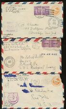 MILITARY USA 1942-3 STATIONERY+APOs  MOROCCO PUERTO RICO CANAL ZONE 5 COVERS