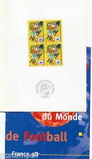 FRANCE 98, DOCUMENT FOOTBALL 1° JOUR , COUPE DU MONDE, NANTES, timbre 3076