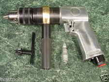 """1/2 """" Reversible AIR DRILL TOOL with Chuck and Key new 3/4 HP All metal"""