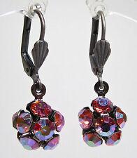 SoHo® Ohrringe Ohrhänger Kugel geschliffene Kristalle rose aurora boreale rose