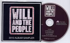 WILL & THE PEOPLE 2010 Album Sampler UK 5trk promo CD