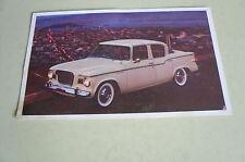 Mid Sixties Stedebaker Lark 4 Door Sedan Postcard Vintage