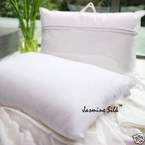 Jasmine Silk Luxe 100% Soie Oreiller Mulberry Soie Rempli Oreiller King 50x90cm