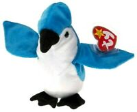 TY Beanie Babies - Rocket the Blue Jay Bird Stuffed Animal Plush Toy - Free Ship